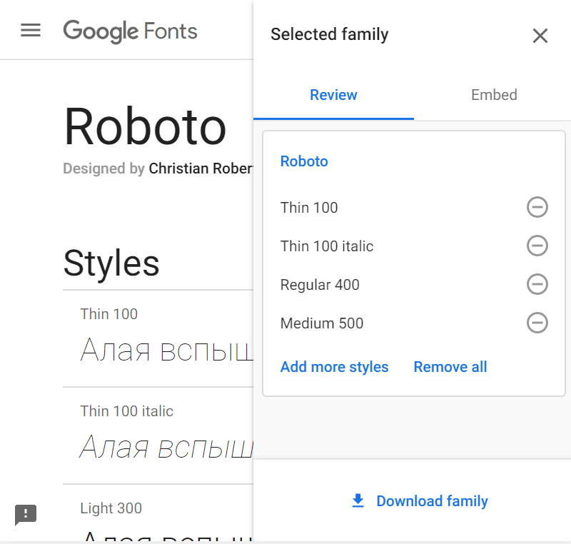 Как подключить google fonts правильно