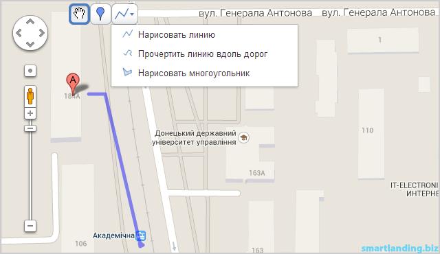 как добавить Гугл карту на лендинг пейдж