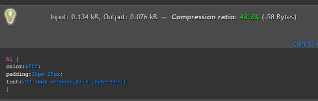 оптимизация css кода для сайта