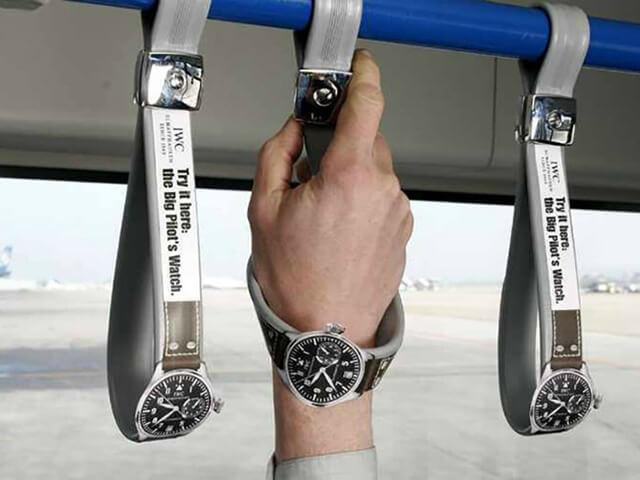 Необычная реклама часов